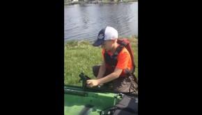 Jackson kayak kid fishing