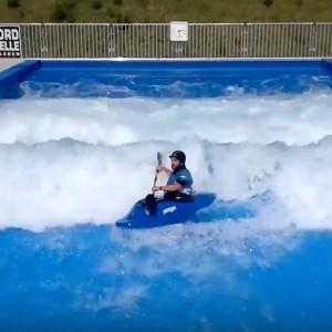 Kayaking on Citywave paddle world