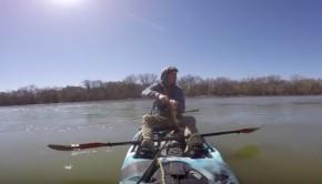 Jon B kayak fishing Paddle World
