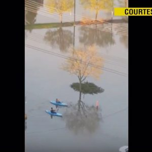 Quebec floods paddle World