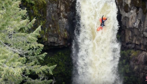 Rafa Ortiz Rides Inflatable Pool Toy Off 70-Foot Waterfall!!