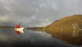 Kayak Fishing in Scotland. Loch Etive prelude to Winter.