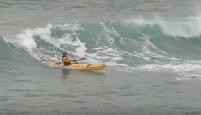 Sea Kayaking Surfing Session!