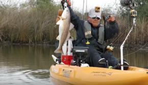 Kayak Fishing for Redfish in FAST MOVING Water