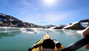 From fjord to glacier. Kayaking in western Norway