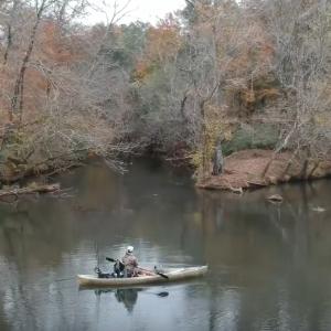 Trophy Bass Flint River Kayak Explore Ft Flukemaster Bass Master Fishing Report Georgia USA