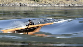 Murrelet Wooden Sea Kayak Surfing Skookumchuck Rapids