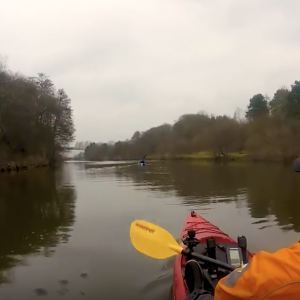 Kayaking The River Weaver Bottom Flash [ A winters paddle ]