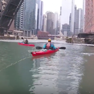 Kayaking in Chicago - Ice Paddle 2018