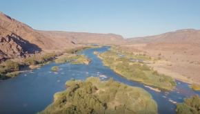 Kayaking the Orange River in South Africa