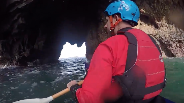 Sea Kayaking Oregon Coast off Cape Falcon - Surf, Sea Caves, and Pour Overs