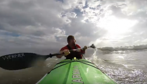Kayak Surfing Shark Encounter