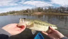 Kayak Fishing SURPRISE! (BIG Bass) - Chatterbait Fishing Tips
