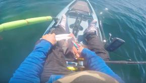 Kayak Fishing -Offshore fishing In my Hobie compass