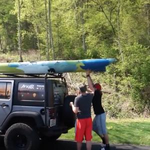Fishing Tour send-off. Gearing up for Kayak Fishing.