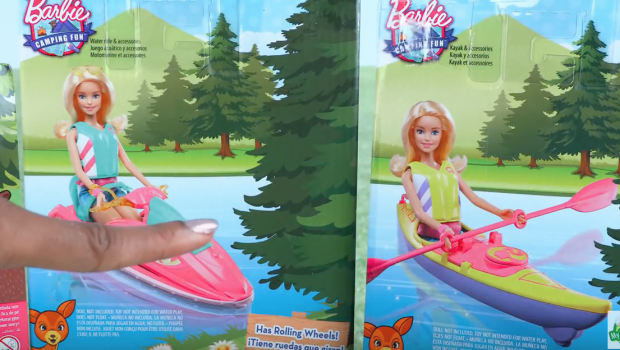 Unbox Daily: Barbie Camping Fun - BARBIE KAYAKER!!!