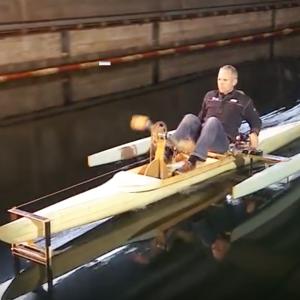 Testing Hydrofoil Kayak