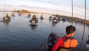 100+ Kayakers fishing on the Delta