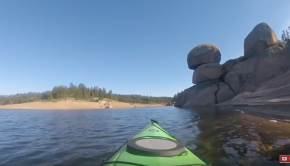 Kayaking Rampart Reservoir, Colorado
