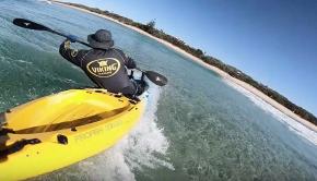 Kayak surf practice with Daniele - Sunshine Coast
