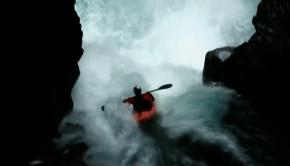 Rafa Ortiz Kayaking Over Big Banana Falls