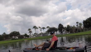 Magic Yaker testing the Old Town Top water - ICAST 2018