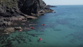 Sea kayaking on the north Pembrokeshire coast with Preseli Venture.
