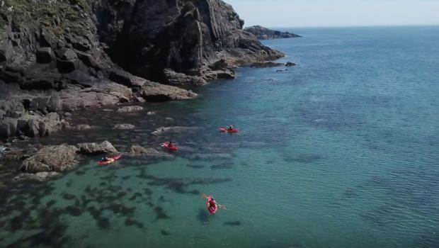 Sea kayaking on the north Pembrokeshire coast with Preseli Venture.