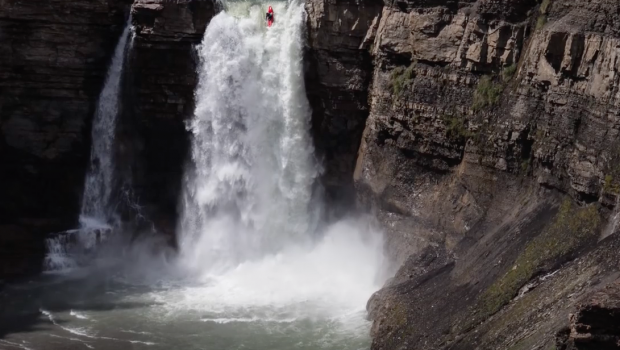 Kayakers plunge 30 metres down Alberta's roaring Ram Falls