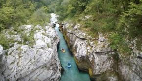 Kayaking Soča river (Slovenia)