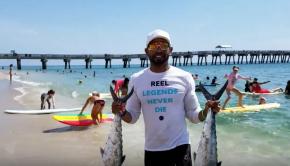 SHARK DESTROYS KAYAK Fisherman on SHARK WEEK!