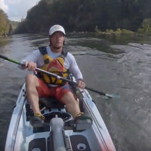 Kayak Fishing Whitewater with Coosa FD Pedal Drive