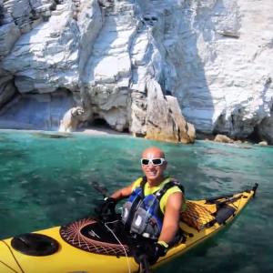 4K sea kayaking Riviera del Conero