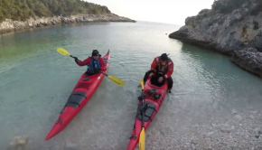 Winter sea kayaking in Croatia 2018