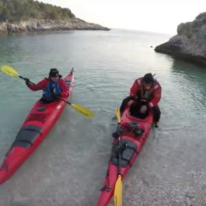 Winter sea kayaking in Croatia 2018