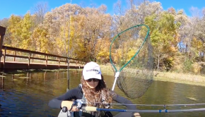 Fall KAYAK FISHING for Muskies and Bass
