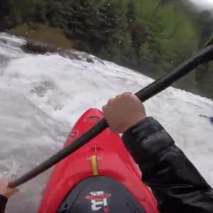 Kayaking down a flooded river! Puesco river at insane flows ! (highest descent)