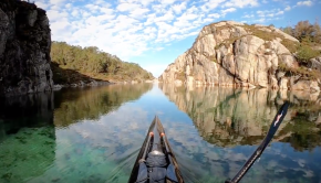 GoPro 7 HyperSmooth slow motion Kayaking in Norway