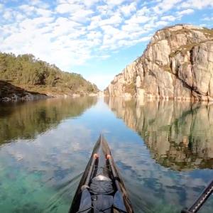 GoPro 7 HyperSmooth slow motion Kayaking in Norway