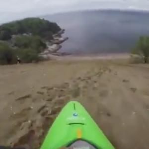 Kayaking Down a Sand Dune
