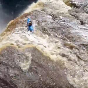 Kayaker Goes Down 110ft Waterfall | Extreme Kayaking
