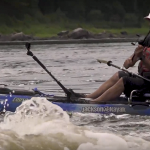 Kayak Fishing in whitewater puts all your gear to the test. In this short film, president of Jackson Kayak, Eric Jackson, takes his Coosa HD down the Ottawa River on a solo mission to catch big fish in extreme water.