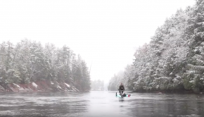 Kayak Fishing In Winter | Winter Wonderland