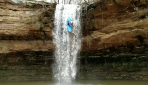 Waterfall Kayaking on Smith Lake
