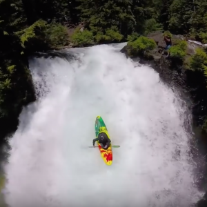 Highlining and Kayaking over a HUGE Waterfall