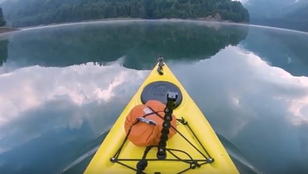 Kayaking before sunrise [CARPATHIAN KAYAK]