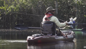 Jim Sammons continues his adventures in the Amazon Rainforest in Brazil with his good friend, Esteban from Blackbeard Fishing Co., landing peacock bass in their kayaks with the expert guidance of Peacock Bass Expedition!