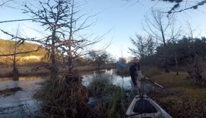 "Kayak Bass Fishing- PISSED OFF Land Owners CAUGHT ON FILM!!** Try to Run Us Off ""their"" River!!"