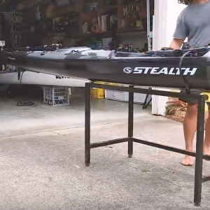 The Ultimate Offshore Fishing Kayak - Rigged Carbon Fibre Beast!