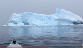 Kayaking in Antarctica! ... Iceberg calves!
